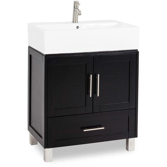 Jeffrey alexander york vessel bathroom vanity with white for Bathroom cabinets york