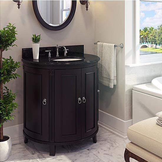 Jeffrey Alexander Demi Lune Bathroom Vanity With Granite Top