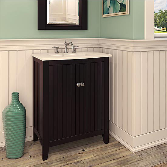 Jeffrey Alexander Dalton Bath Elements Vanity with White Porcelain Top & Sink, Painted Espresso
