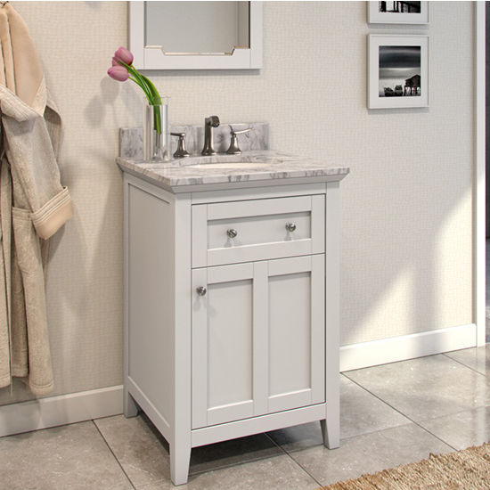 Bathroom Vanity Chatham Shaker Bathroom Vanity With Carerra White
