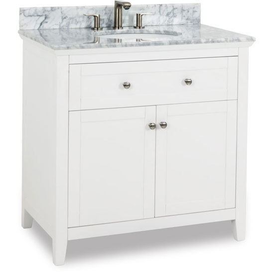 White Shaker Bathroom Vanities With Top