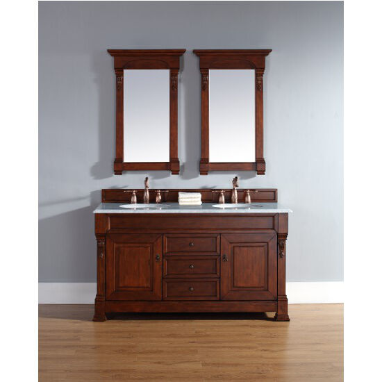 Warm Cherry Vanity Front View