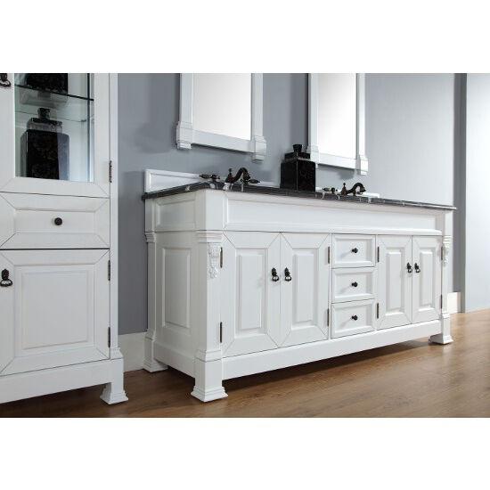 Cottage White, 2cm Santa Cecilia Top- Cabinet