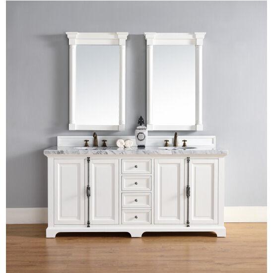 Cottage White, 4cm Carrara White- Front View