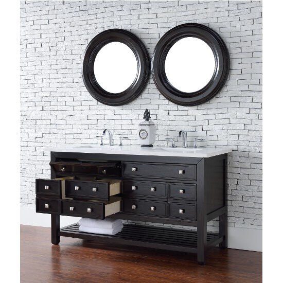 vancouver 60 quot double vanity by james martin furniture