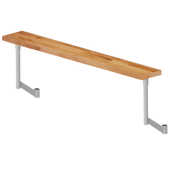 John Boos L-Maple Steam Table Boards with Adjustable Stainless Steel Support Arms, Penetrating Oil