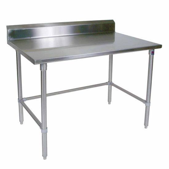 ST4R5-SB Series 14-Gauge Stainless Steel Work Table w/ Riser