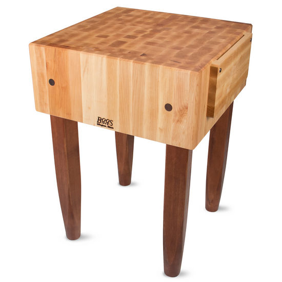 john boos pca butcher block with knife holders