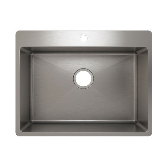 Julien J18 Stainless Steel Topmount Sink, 25-1/2''W x 19-3/4''D x 10''H