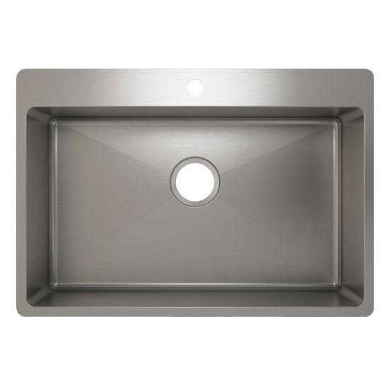Julien J18 Stainless Steel Topmount Sink, 28-1/2''W x 19-3/4''D x 8''H