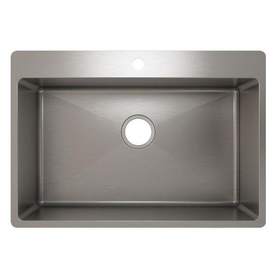 Julien J18 Stainless Steel Topmount Sink, 28-1/2''W x 19-3/4''D x 10''H