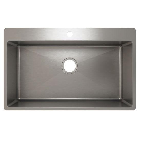 Julien J18 Stainless Steel Topmount Sink, 31-1/2''W x 19-3/4''D x 10''H