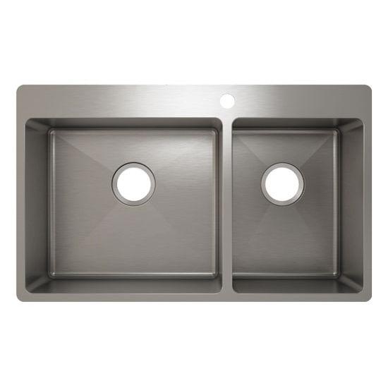 Julien J18 Stainless Steel Topmount Sink, 32-1/4''W x 19-3/4''D x 8''H