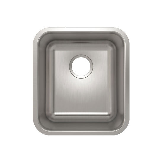 Julien Builder Stainless Steel Undermount Sink, 15-3/4''W x 17-3/4''D x 9''H