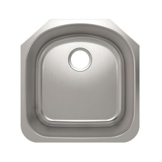 Julien Builder Stainless Steel Undermount Sink, 19-1/2''W x 20-1/4''D x 9''H
