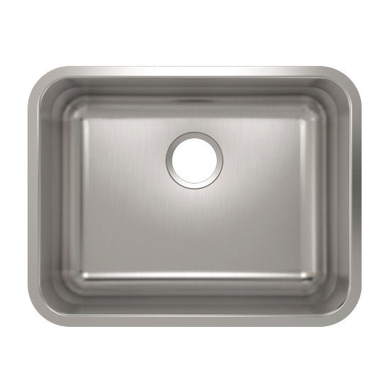 Julien Builder Stainless Steel Undermount Sink, 22-3/4''W x 17-3/4''D x 9''H