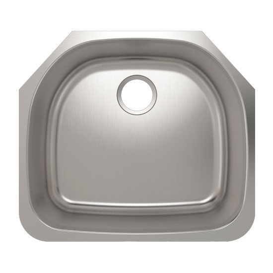 Julien Builder Stainless Steel Undermount Sink, 23''W x 20-1/2''D x 9''H