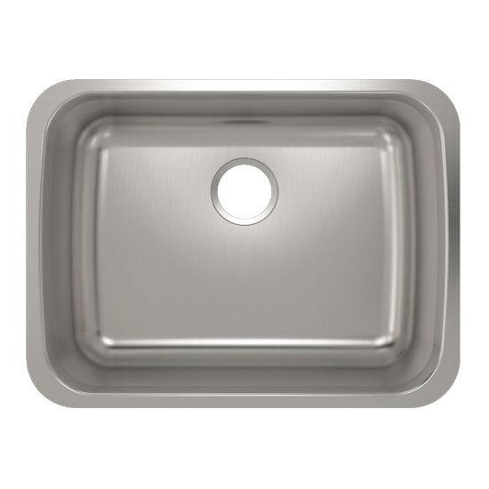 Julien Builder Stainless Steel Undermount Sink, 24-3/4''W x 18-3/4''D x 9''H