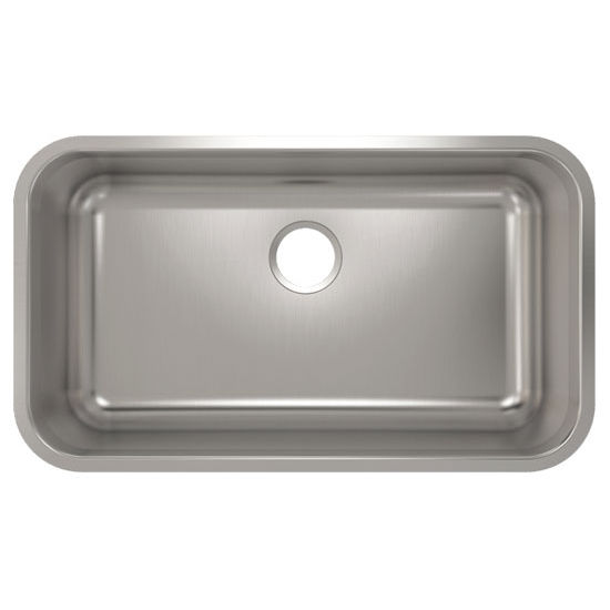Julien Builder Stainless Steel Undermount Sink, 30-3/4''W x 17-3/4''D x 9''H