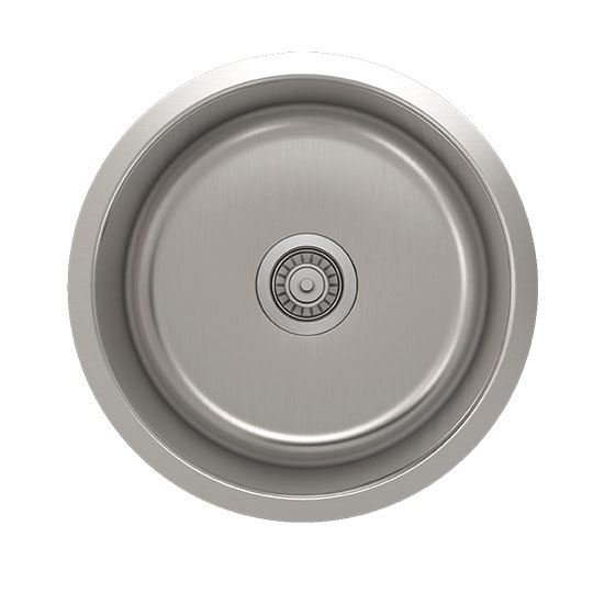 Julien Builder Stainless Steel Undermount Sink, 18-1/8''Diameter x 9''H