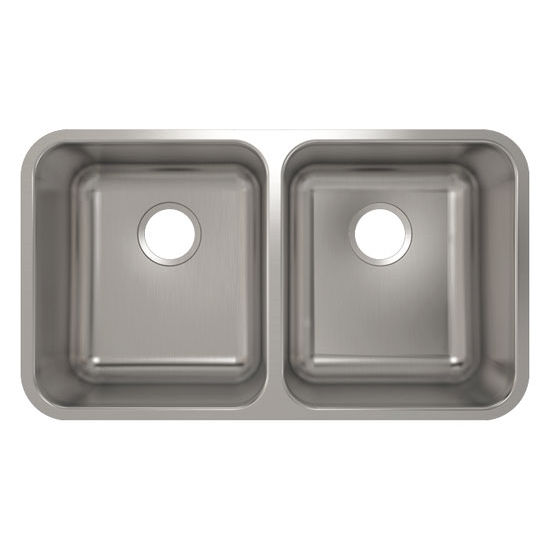 Julien Builder Stainless Steel Undermount Sink, 30-7/8''W x 17-3/4''D x 9''H