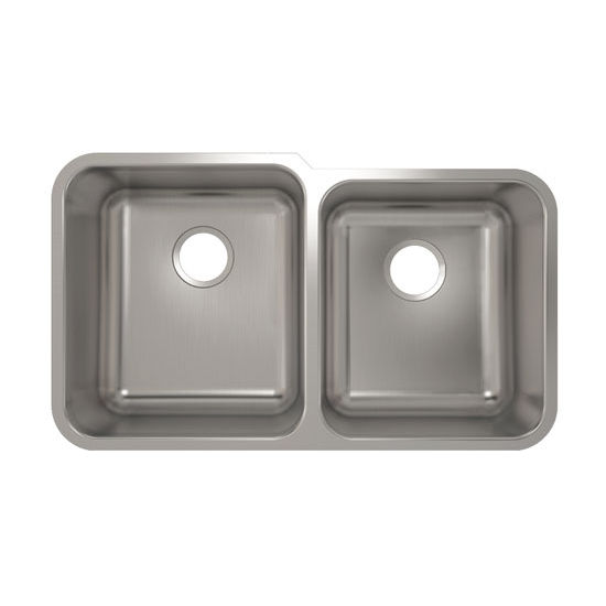 Julien Builder Stainless Steel Undermount Sink, 31-7/8''W x 18-3/4''D x 9''H