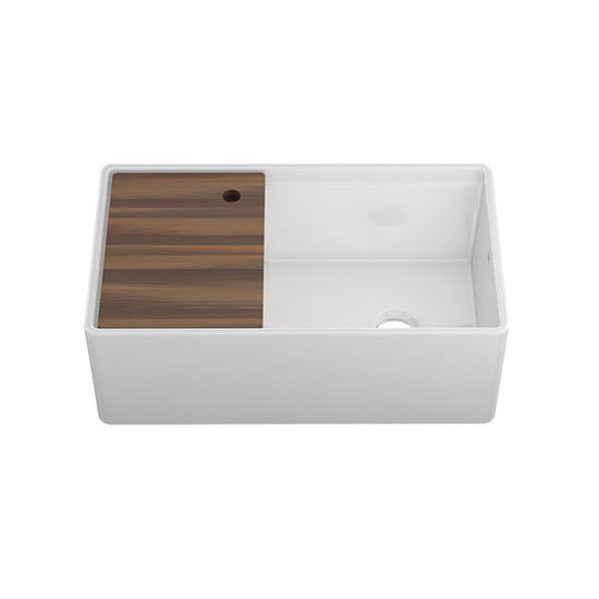 Fira Collection Single Undermount Fireclay Kitchen Sink W