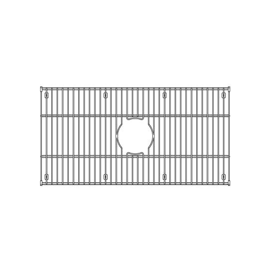 """Julien Stainless Steel Sink Grid for Julien Fireclay Sinks, 27-7/16""""W x 13-13/16""""D"""