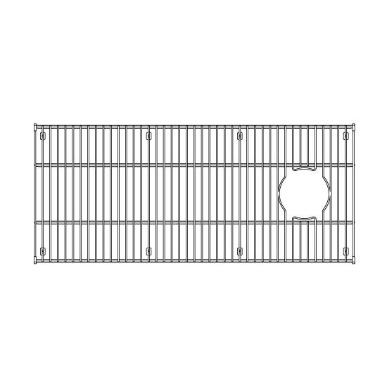 "Julien Stainless Steel Sink Grid for Julien Fireclay Sinks, 31-5/8""W x 13-13/16""D"