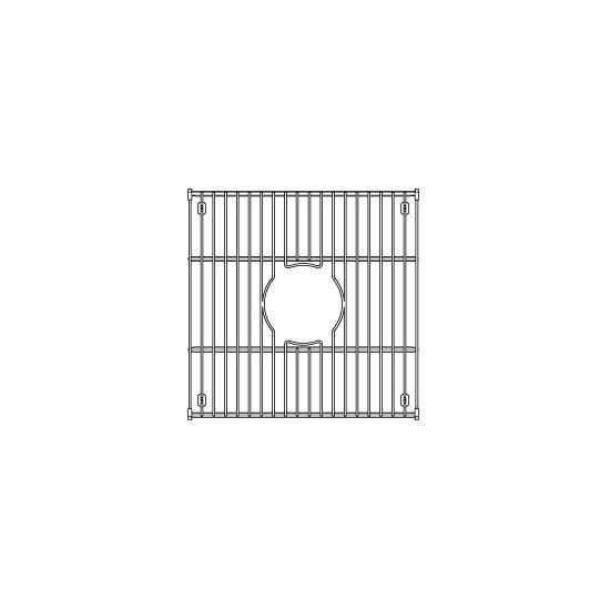 """Julien Stainless Steel Sink Grid for Julien Fireclay Sinks, 14-7/16""""W x 14-7/16""""D"""