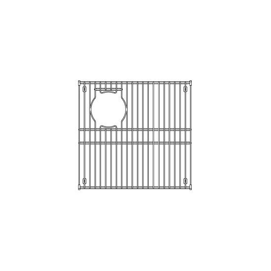 "Julien Stainless Steel Sink Grid for Julien Granix Sinks, 15-15/16""W x 15-3/8""D"
