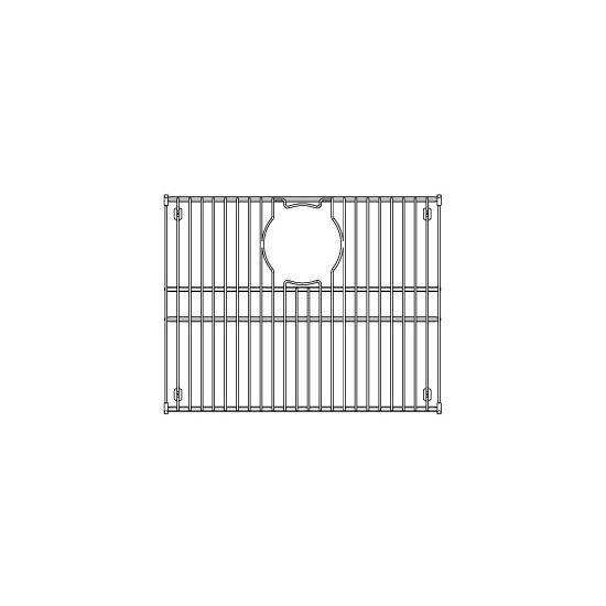 """Julien Stainless Steel Sink Grid for Julien Granix Sinks, 17-7/16""""W x 13-13/16""""D"""
