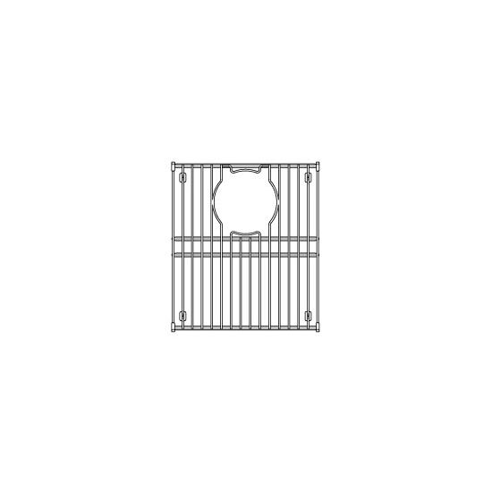 "Julien Stainless Steel Sink Grid for Julien Granix Sinks, 11-7/16""W x 13-13/16""D"