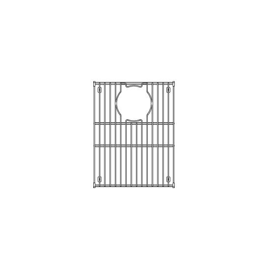 "Julien Stainless Steel Sink Grid for Julien Granix Sinks, 11-7/16""W x 15-1/16""D"