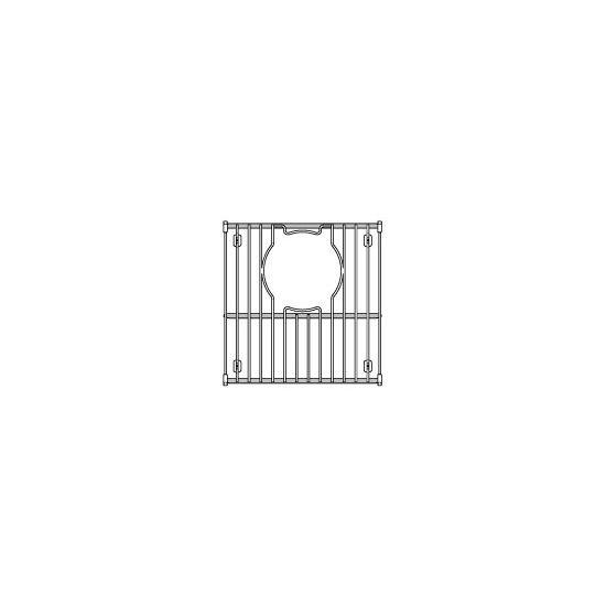 """Julien Stainless Steel Sink Grid for Julien Granix Sinks, 9-15/16""""W x 10-3/8""""D"""