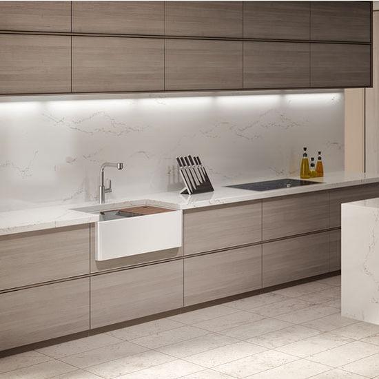 Fira Collection Single Undermount Fireclay Bar Kitchen