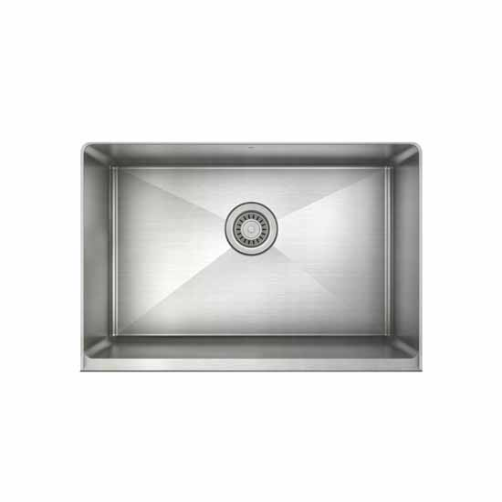 """JULIEN ProInox H75 Collection 28"""" Undermount with Apron Front, Single Bowl Kitchen Sink in Stainless Steel"""