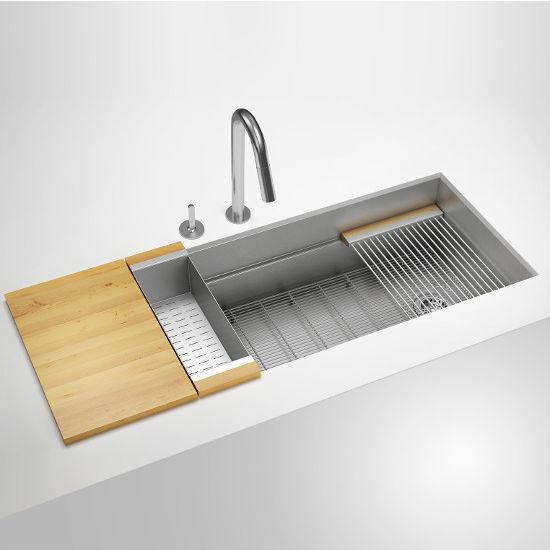 julien home refinements smart station single bowl kitchen sinks rh kitchensource com julien kitchen sink 3914 julien kitchen sink 3914