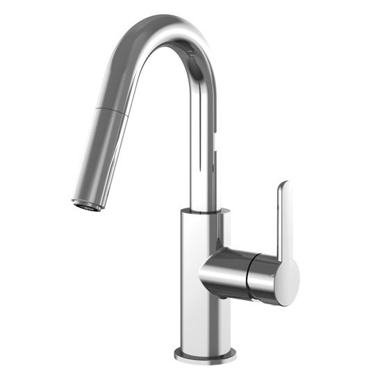 Kitchen Faucets Vancouver Bc: Pull Down Bar Faucet Polished : 772123