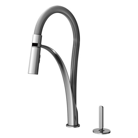 Julien Abyss Professional Kitchen Faucet with Dual Spray & Remote Single Lever, Polished Chrome