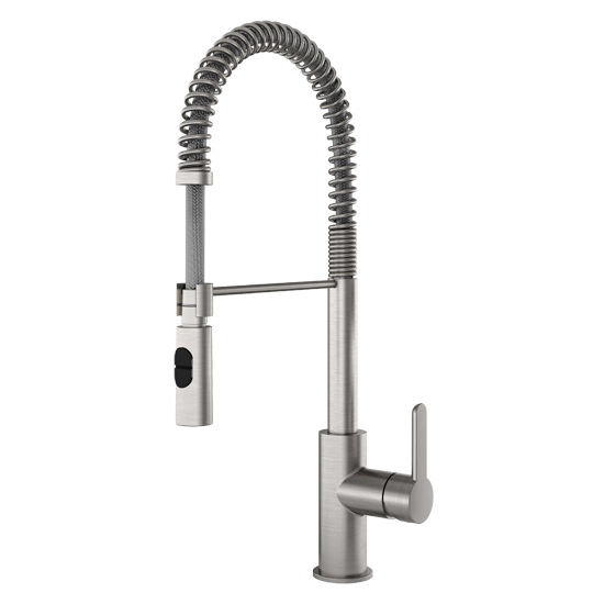 Charmant Julien Peak Professional Kitchen Faucet With Dual Spray, Brushed Nickel