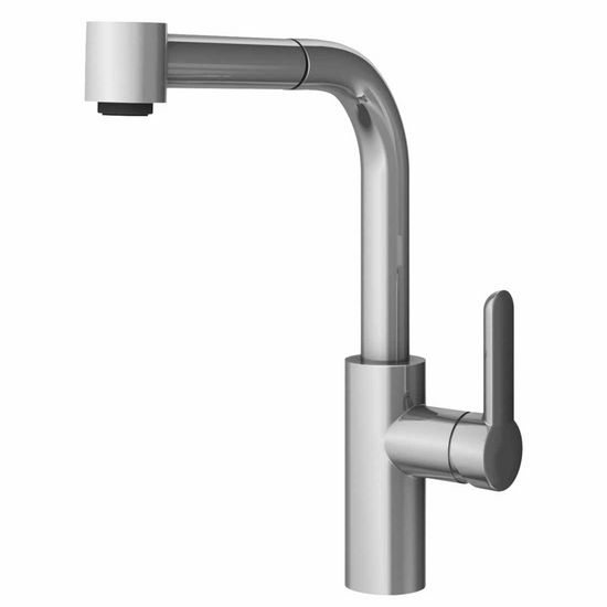 JULIEN Pure Contemporary Kitchen Faucet With Pull Down Sprayhead In  Polished Chrome