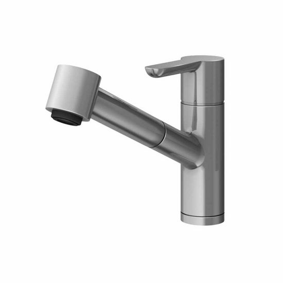 JULIEN Source Contemporary Kitchen Faucet with Pull-Down Sprayhead in Polished Chrome