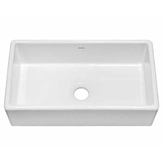 Large White Sink : JULIEN 080101 Nantucket Large Farmhouse White Fireclay Kitchen Sink 27 ...