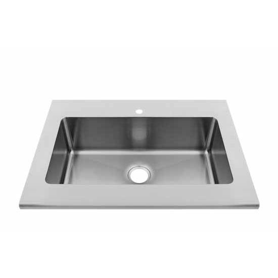 JULIEN Classic Collection Worktop Sink with Single Bowl, 16 Gauge Stainless Steel