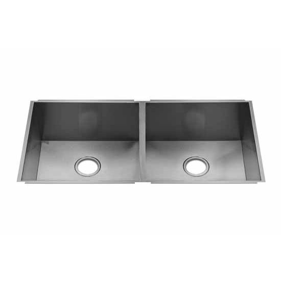 JULIEN UrbanEdge Collection Undermount Sink with Double Bowl, 16 Gauge Stainless Steel