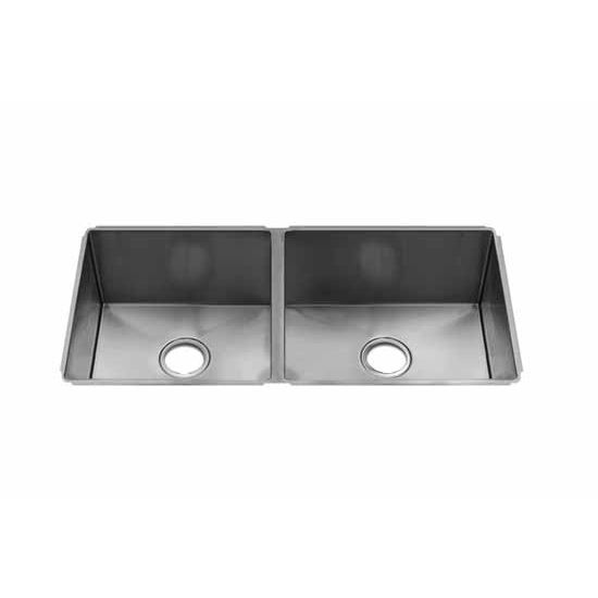 JULIEN J7 Collection Undermount Sink with Double Bowl, Larger Right Bowl, 16 Gauge Stainless Steel