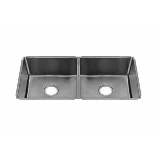 JULIEN J18 Collection Undermount Sink with Double Bowl, 18 Gauge Stainless Steel