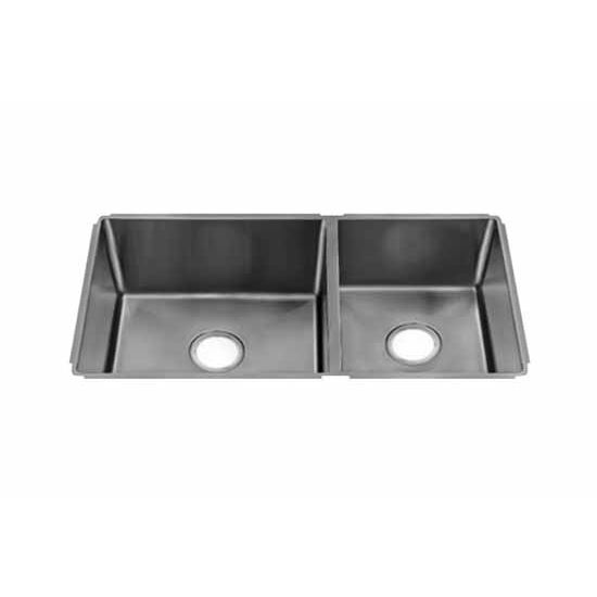 JULIEN J18 Collection Undermount Sink with Double Bowl, Larger Left Bowl, 18 Gauge Stainless Steel