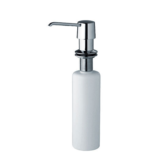 "JULIEN Soap Dispenser, Polished Chrome, 4-3/4""D x 10-1/8""H"